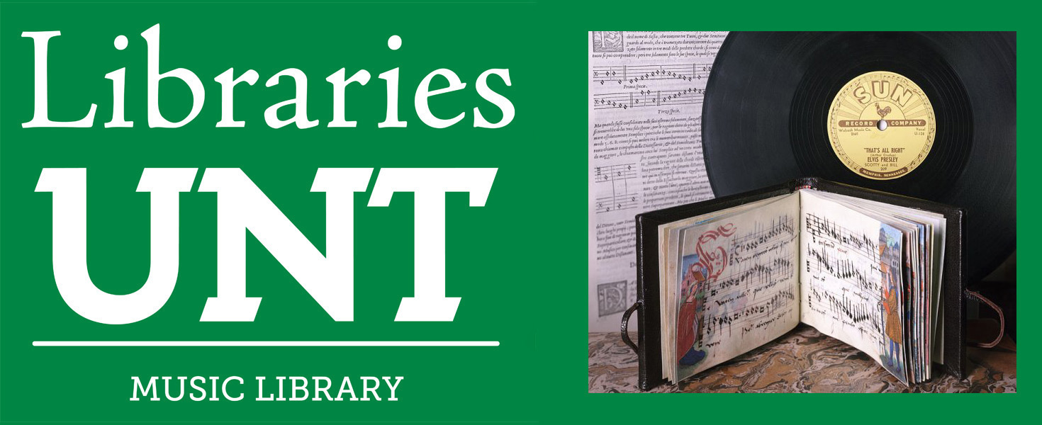 UNT Music Library Logo